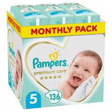 Подгузники Pampers Premium Care, размер 5, 11-16 кг, 136 шт