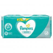 Детские влажные салфетки Pampers Sensitive, 2 уп.x52 шт