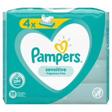 Детские влажные салфетки Pampers Sensitive, 4 уп.x52 шт