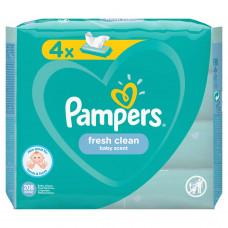 Детские влажные салфетки Pampers Fresh Clean, 4 уп.х52 шт