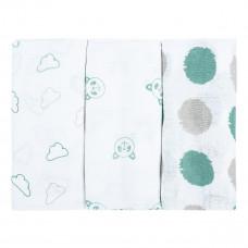 Набор пеленок Bubaba Green Muslin Squares 3 шт 37124 ТМ: Bubaba