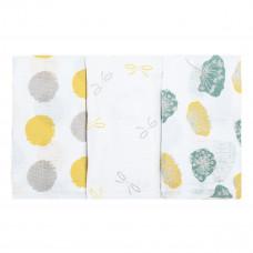 Набор пеленок Bubaba Yellow Muslin Squares 3 шт 37025 ТМ: Bubaba