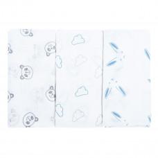 Набор пеленок Bubaba Blue Muslin Squares 3 шт 37049 ТМ: Bubaba