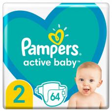 Подгузники Pampers Active Baby, размер 2, 4-8 кг, 64 шт