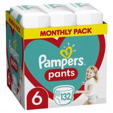 Подгузники-трусики Pampers Pants, размер 6, 15+ кг, 132 шт