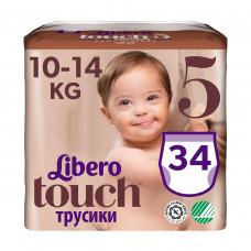 Подгузники-трусики Libero Touch, размер 5, 10-14 кг, 34 шт