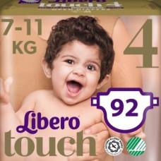 Набор подгузников Libero Touch 4 (7-11 кг), 92 шт. (2 уп. по 46 шт.)