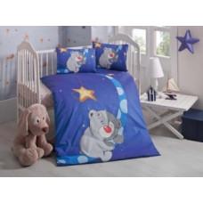 Комплект постельного белья LightHouse Keyif, ранфорс, 150х100 см, синий (44230)