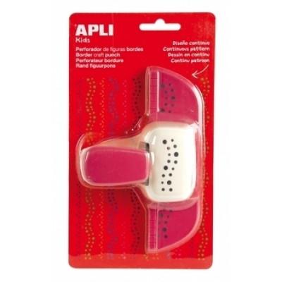 Дырокол фигурный Apli Kids Цветок, для оформления рамки, розовый (13640)