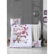 Комплект постельного белья LightHouse Play Time, ранфорс, 150х100 см, белый (44261)