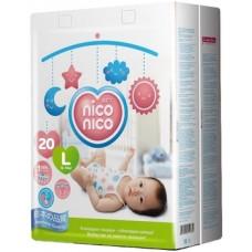 Подгузники Nico Nico L (9-14 кг), 20 шт.