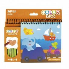 Раскраска с цветными карандашами Apli Kids Транспорт (15207)