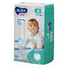 Подгузники-трусики Aura Baby 4/L (9-14 кг), 43 шт.