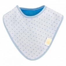 Непромокаемый слюнявчик-бандана ЭКО ПУПС Jersey Abso Звездочки, синий (WBBJA012)