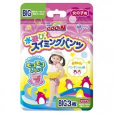 Подгузники-трусики для плавания для девочек Goo.N Big XL (12-20 кг), 3 шт.