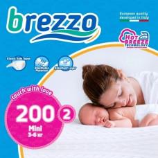 Набор подгузников Brezzo Mini 2 (3-6 кг), 200 шт.