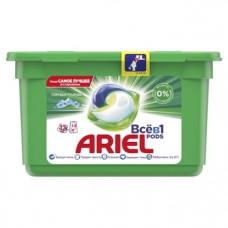 Капсулы для стирки Ariel Pods Все-в-1 Горный Родник, для белых и цветных тканей, 12 шт.