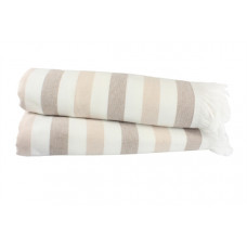 Полотенце махровое Hobby Stripe Peshtemal, 140х70 см, бежевый (315709)