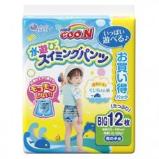 Подгузники-трусики для плавания для мальчиков Goo.N Big XL (12-20 кг), 12 шт.