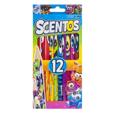 Набор ароматных карандашей Scentos Фантазия, 12 цвета (40515)