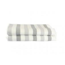 Полотенце махровое Hobby Stripe Peshtemal, 140х70 см, серый (315761)
