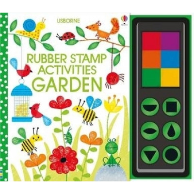 Детская книга Usborne Rubber Stamp Activities: Garden