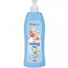 Детский гель для душа и ванны HebaCARE 3 в 1, 500 мл