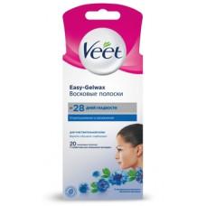 Восковые полоски Veet, для чувствительной кожи лица, 20 шт.