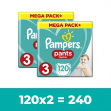 Набор подгузников-трусиков Pampers Pants 3 (6-11 кг), 240 шт. (2 уп. по 120 шт.)