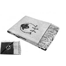 Плед LightHouse Happy Sheep, 200х140 см, черный (550378)