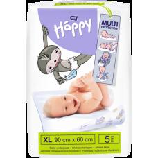 Одноразовые пеленки Bella Baby Happy, 90х60 см, 5 шт.