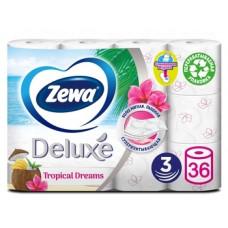 Трехслойная туалетная бумага Zewa Deluxe, белый, 36 рулонов