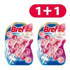 Туалетный блок для унитаза Bref De Luxe Нежная магнолия, 3 шт. 1+1