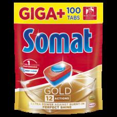 Таблетки для посудомоечных машин Somat Gold Giga, 100 шт.