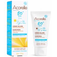 Солнцезащитный крем для детей Acorelle SPF 50+, органический, 50 мл