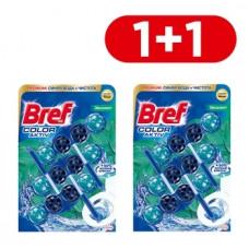 Туалетный блок для унитаза Bref Color aktiv Эвкалипт, 3 шт. 1+1