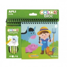 Раскраска с цветными карандашами Apli Kids Ферма (15206)