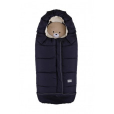 Зимний конверт Nuvita 9605 Cuccioli Junior Медвежонок, темно-синий с бежевым (NV9605CUCCIOLOJRBLUE)