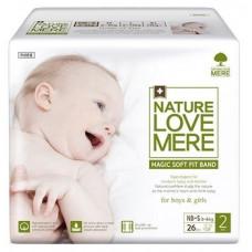 Подгузники NatureLoveMere Magic Soft Fit NB-S (3-6 кг), 26 шт.