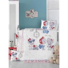 Комплект постельного белья LightHouse Pink Station, ранфорс, 150х100 см, белый (35189)