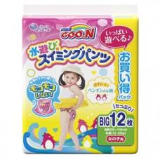 Подгузники-трусики для плавания для девочек Goo.N Big XL (12-20 кг), 12 шт.