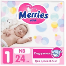 Подгузники Merries NB (0-5 кг), 24 шт.