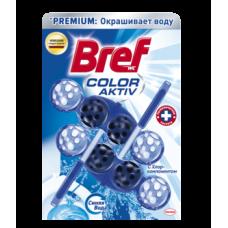 Туалетный блок для унитаза Bref Color aktiv С Хлор-компонентом, 2 шт.