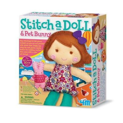 Набор для шитья 4M Кукла и кролик (00-02765)