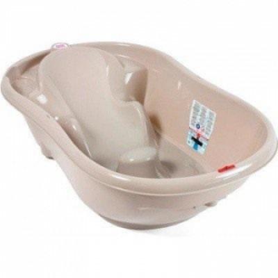 Детская ванночка OK Baby Onda New Style, с термодатчиком, сливом и горкой, серый, 93 см (38232035)