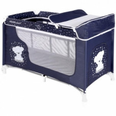 Манеж-кровать Lorelli Moonlight 2L Dark blue Bear, темно-синий (20837)