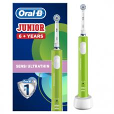Электрическая зубная щетка Oral-B Junior, мягкая, зеленый