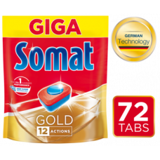 Таблетки для посудомоечных машин Somat Gold, 72 шт.