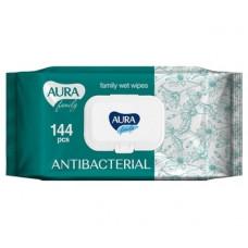 Антибактериальные влажные салфетки Aura, 144 шт.