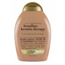Разглаживающий кондиционер OGX Бразильский кератин, для укрепления волос, 385 мл